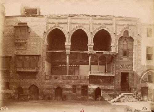 Loggia et cour de la maison de Qaytbay (sikkat al-Maridani)