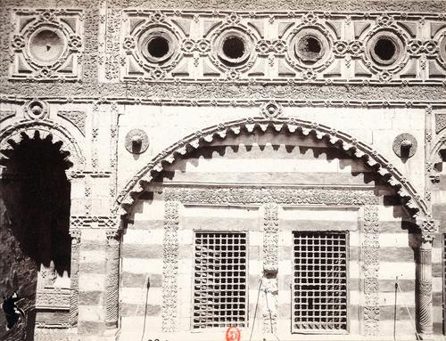 Détail de la façade de la mosquée al-Shawazliyya