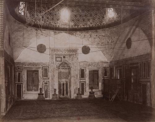 Vue intérieure de la mosquée Sulayman pacha