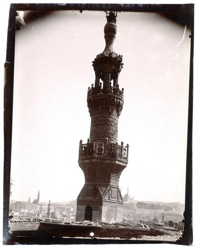 Minaret de la mosquée Qaytbay intra-muros