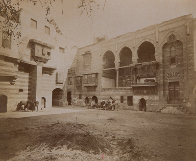 Loggia et cour d'une maison de Qaytbay