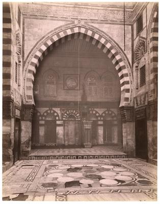 Vue du mur de qibla du complexe funéraire du sultan al-Ashraf Qâytbây