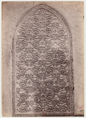 Détail d'un décor de stuc de la mosquée al-Mu'ayyad