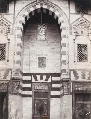 Iwan sud du mausolée de Qaytbay (cimetière nord)