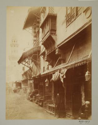Rue al-Gamaliyya et vue du minaret de la khanqah Baybars al-Gashankir