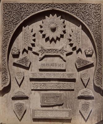 Fragments de décors en bois sculpté