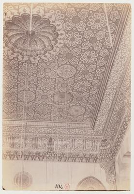 Plafond de l'iwan de la qibla de la madrasa du complexe Barquq