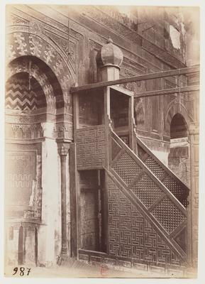 Minbar et mihrab de la madrasa Gamal al-Din al-Ustadar