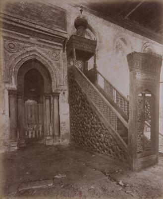 Mihrab et minbar en bois de la mosquée ibn Tulun, s. d., bibliothèque de l'INHA, Raccolta artistica..., 1887, f° 47.