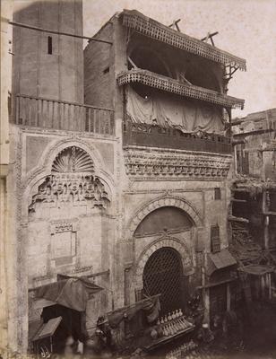Mosquée al-shaykh 'Ali al-Mutahhar, s. d., bibliothèque de l'INHA, Raccolta artistica..., 1887, f° 31.