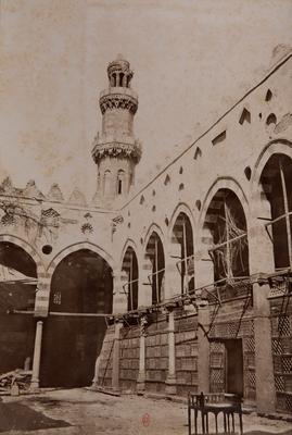 Minaret de la mosquée Altinbugha al-Maridani depuis la cour
