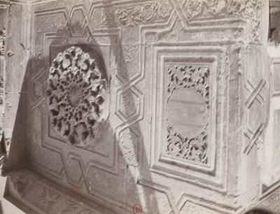 Détail du décor de l'entrée de la madrasa al-sultan Hasan