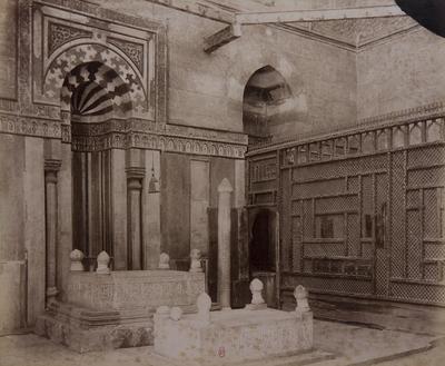 Intérieur du mausolée nord-est de la khanqah Farag ibn Barquq