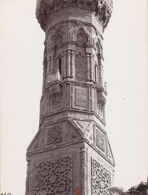 Détail du minaret de la mosquée Inal