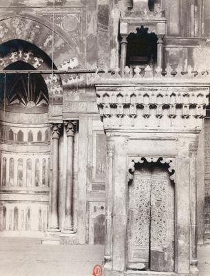 Mur de qibla, mihrab et minbar de la mosquée al-sultan Hasan