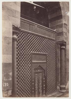 Claustra en bois tourné du couvent et tombeau du sultan Baybars II