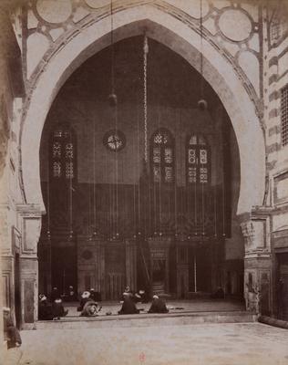 Salle de prière de la mosquée al-Ghawri, 1881, s. d., bibliothèque de l'INHA, Raccolta artistica..., 1887, f° 21.